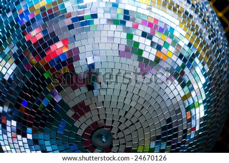 discoball in night club. Closeup photo, good for background - stock photo