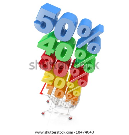 Discount Cart - stock photo