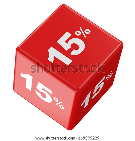 Discount Cube Collection isolated on white background (15%)