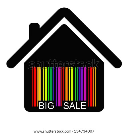 discount HOUSE BARCODE , vector