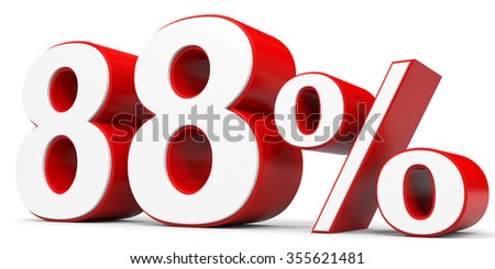 Discount 88 percent off. 3D illustration.