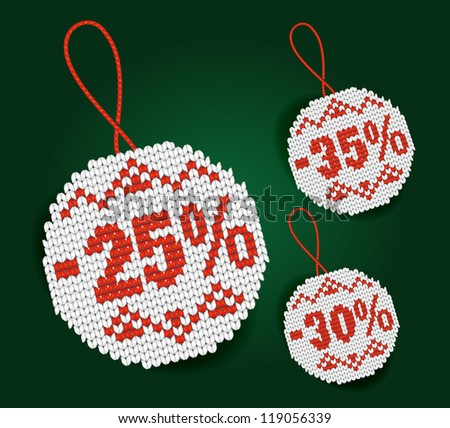 Discount price tags - stock photo