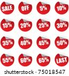 discount stickers set - stock photo