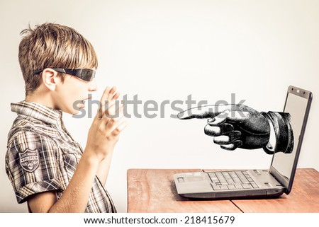 discovered hacker - stock photo