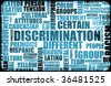 Discrimination Creative Concept Grunge as a Art - stock photo