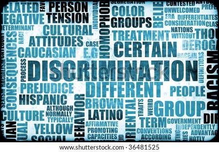 Discrimination Creative Concept Grunge as a Art - stock photo