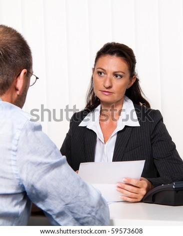 Discussion and consultation with a lawyer or tax consultant - stock photo