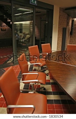 discussion room - stock photo