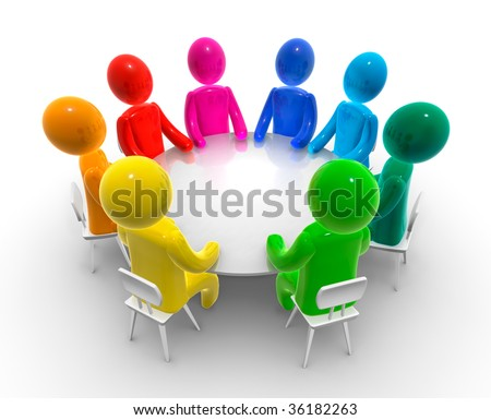 Discussion round table - stock photo