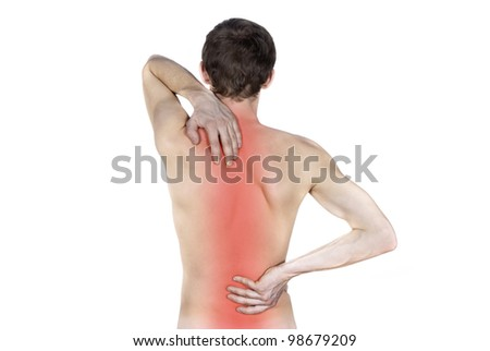 disease of the spine isolated - stock photo