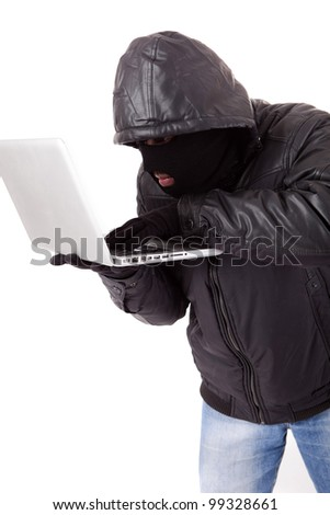 Disguised computer hacker