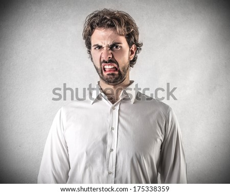 disgusted guy - stock photo