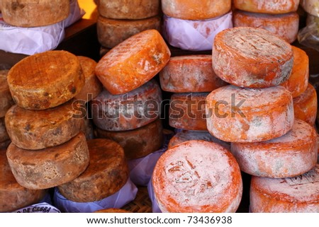 dish cheese food piece different - stock photo
