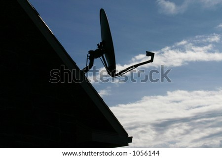 Dish for Television - stock photo