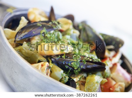 Dish of Brazilian Seafood