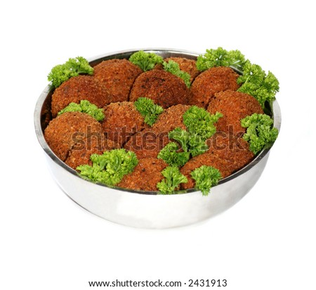 Dish of Cutlets - stock photo