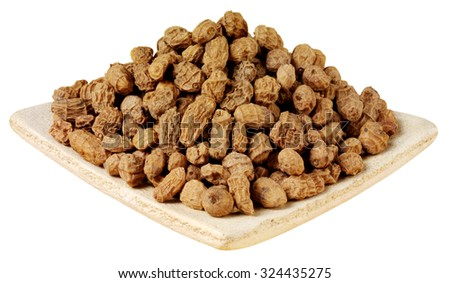 DISH OF TIGER NUTS CUT OUT