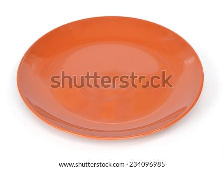 dish on white background - stock photo