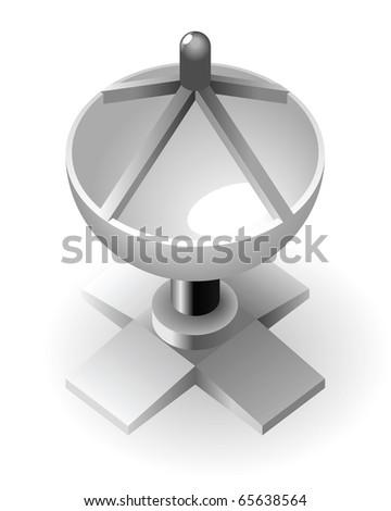 Dish-shaped antenna tower. - stock photo