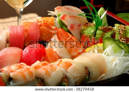 Dishes from fish of the Japanese cuisine