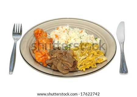 Dishes ready in plate - stock photo