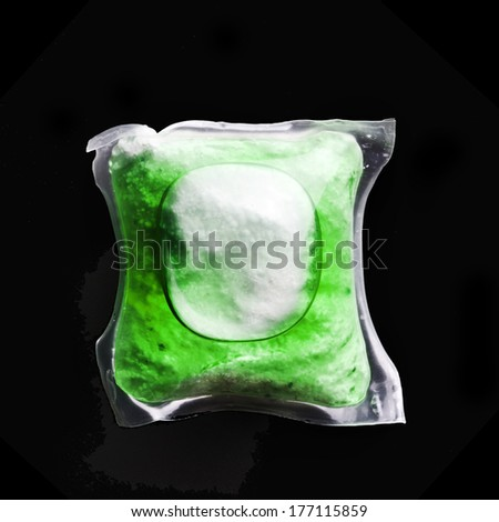 dishwasher tablets - stock photo