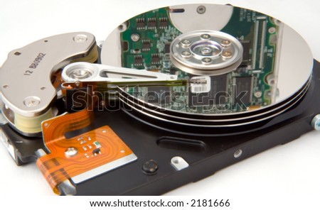 Disk Drive with Reflection - stock photo