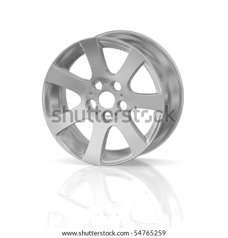 Disk of a wheel - stock photo