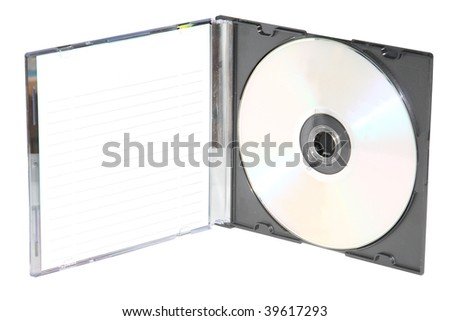 disk under the light background - stock photo