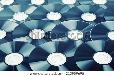 Disks background - stock photo