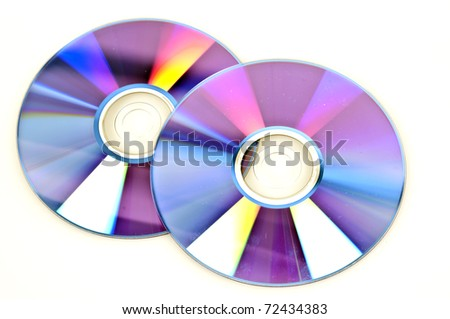 Disks isolated on white background - stock photo