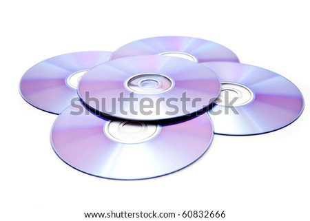 disks on a white background