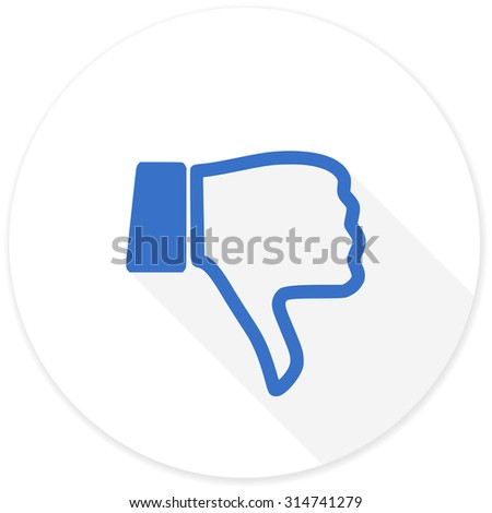 dislike flat design modern icon with long shadow for web and mobile app