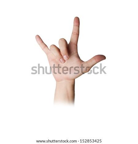 dislike hand gesture - stock photo