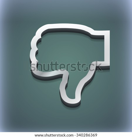 Dislike icon symbol. 3D style. Trendy, modern design with space for your text illustration. Raster version - stock photo