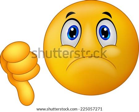 Dislike sign emoticon - stock photo