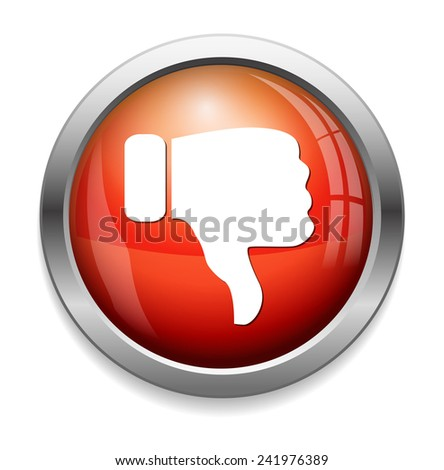 Dislike (thumbs down icon) - stock photo