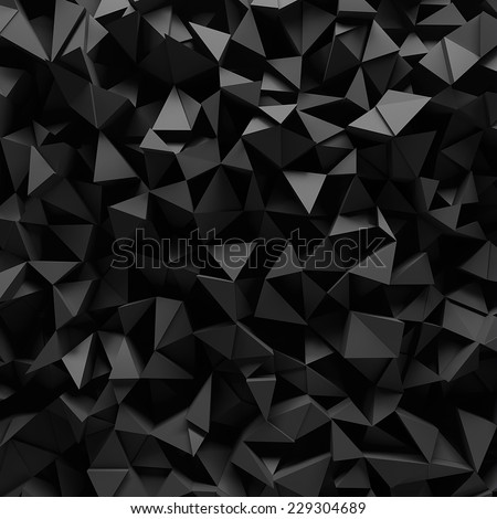 Displaced 3d triangular background - stock photo