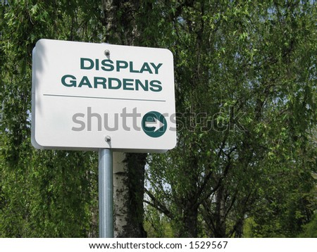 display gardens sign