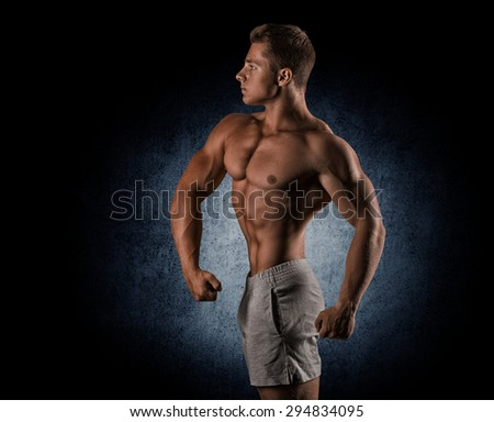 Display lat width, chest thickness, shoulder width, front arm and forearm size