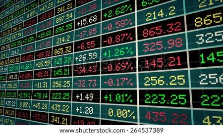 Display of Stock market. - stock photo