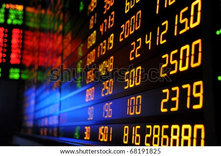 Display of Stock market or stock exchange information background
