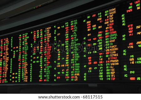 Display of Stock market quotes,for using background
