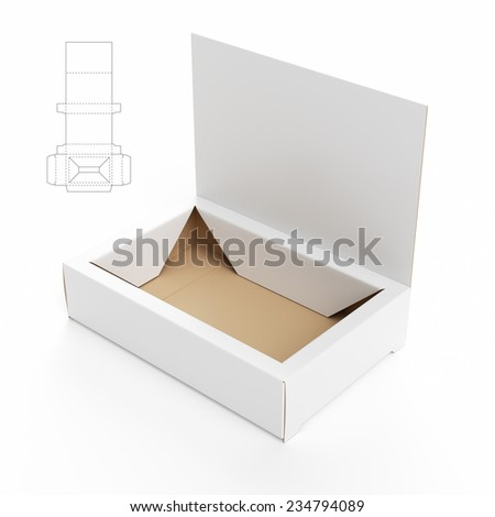 Display Stand Box with Die Cut Template - stock photo