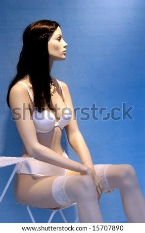 display window - stock photo