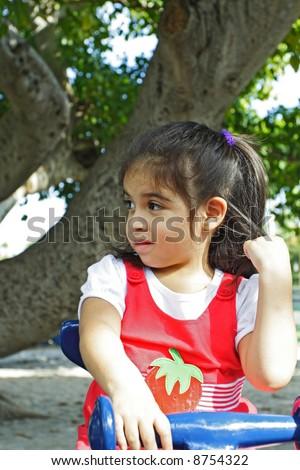 Displeased Girl - stock photo