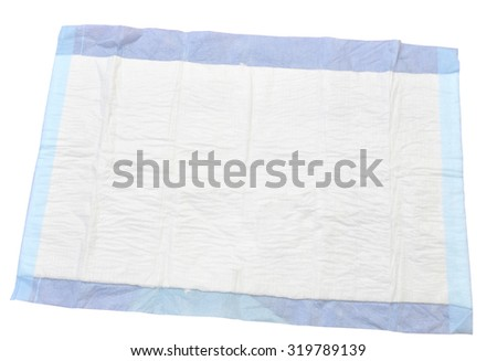 Disposable bed sheet - stock photo