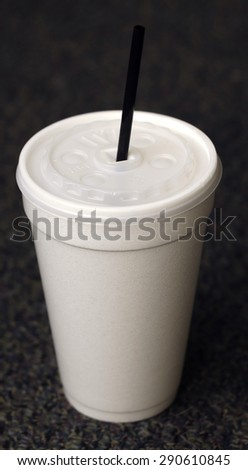 disposable cup with dark background