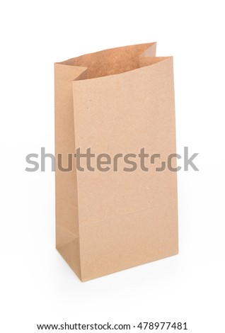 disposable paper bag for shopping or disposal