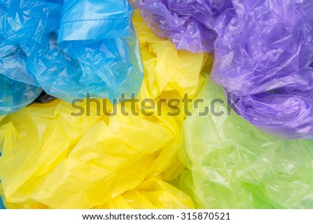 Disposable plastic bags - stock photo